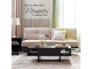 MAKING MEMORIES Home Bedroom Vinyl Wall Decal Words Lettering Quote 24