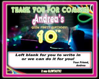 NEON GLOW TICKET VIP BIRTHDAY PARTY INVITATIONS FAVORS