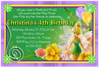 TINKERBELL BIRTHDAY PARTY INVITATIONS DIGITAL