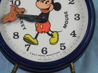 VINTAGE GERMAN WALT DISNEY MICKEY MAUSE ALARM CLOCK