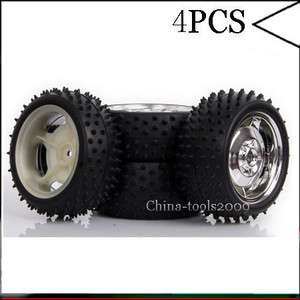 SET 110 RC Car Off Road Front and Rear Wheel Rim & Tyre,Tires Silver