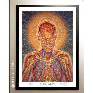 Framed Praying Poster Signed by Alex Grey: Everything Else