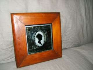 Antique Reverse Portrait /silhouette Painting on Glass