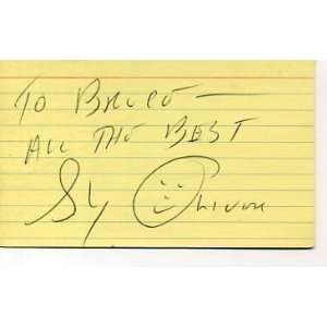 Sy Oliver Jazz Big Band Leader Singer Signed Autograph