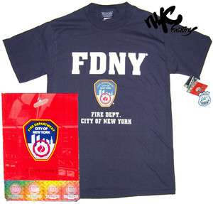 FDNY T SHIRT FIRE DEPT BLUE NEW YORK CITY OFFICIAL LICENSED NYFD TEE