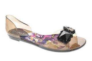 Madden Girl Gabby Womens Flat Sandals Black Embellished 9
