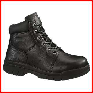 WOLVERINE BLACK 6 MARQUETTE BOOTS (work footwear steel toe