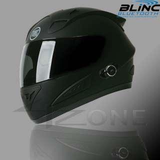 TORC T10 BLUETOOTH FLAT BLACK FULL FACE MOTORCYCLE HELMET DOT ~ MEDIUM