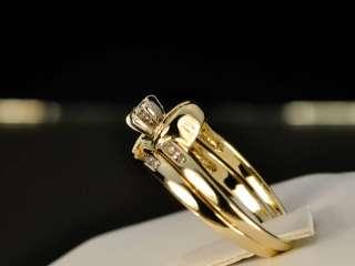 10k Yellow Gold Ladies .4 Ct Real Diamond Wedding Rings