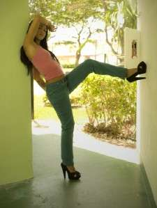 MISS SIXTY HIPPIE CHIC CLASSIC TEAL STRETCH JEANS. STRAIGHT LEG. WAIST