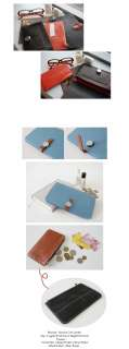 Genuine Leather Womens Combi Color Organizer Standard Wallet Clutch