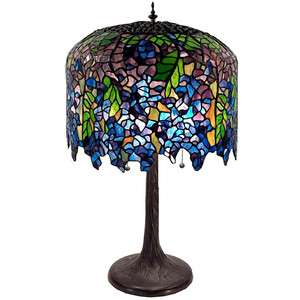 UNIQUE TIFFANY STYLE COLORFUL WISTERIA TABLE LAMP LIGHT NEW