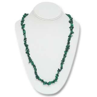 447.00 Carat Natural Malachite Chip Necklace 32 Inch