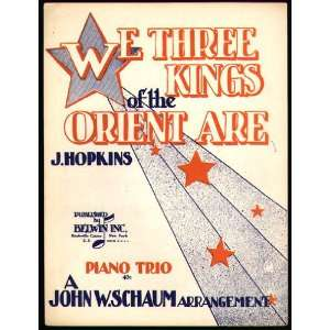 We Three Kings of the Orient Are, Piano Trio J (Music