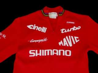 SHIMANO Australia PRO TEAM Road Cycling JERSEY Shirt Top 80s SM