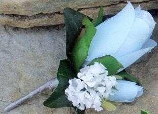 Blue/White/Silver Wedding Bridal Bouquet 2 piece set