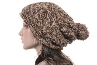 Promo Crochet Knit Beanie Hat Knit Winter Cap be426b