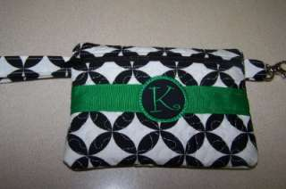 Personalized Monogrammed Initial Wristlet