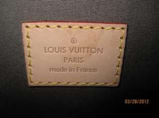 Authentic LOUIS VUITTON Gris Art Deco Vernis Alma Handbag   NEW With
