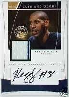 2003 04 Flair REGGIE MILLER Cuts and Glory Auto Pinstripe Jersey Patch