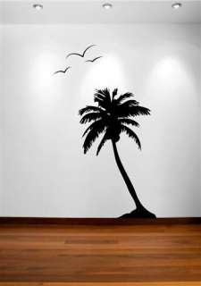 Large Tree Wall Decal Palm Coconut Forest Kids Vinyl Sticker Removable
