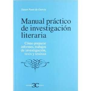 Manual Practico De Investigacion Literaria (Como Preparar