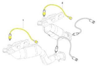2pc BMW Oxygen Sensor Set Front/Upstream/Pre Bank 1 & 2 Bosch OEM Plug