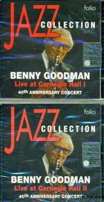 Benny Goodman Live at Carnegie Hall 2 CD Set 40th Anniversary Concert