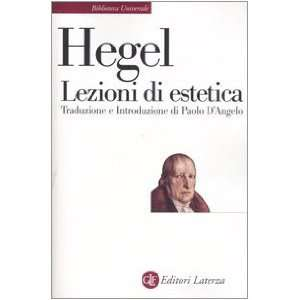 di estetica. Corso del 1823 (9788842059592) Friedrich Hegel Books