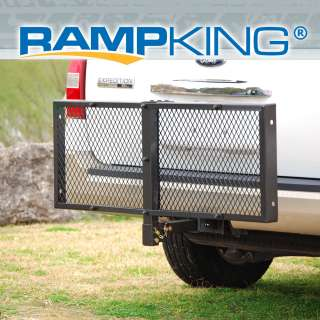 RAMP KING FOLDING 48 X 20 CARGO HITCH CARRIER LUGGAGE BASKET FOR 2