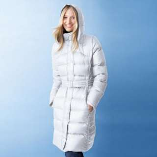 Downtown French Women Winter Long Down Coat Jacket Parka 18 XL White