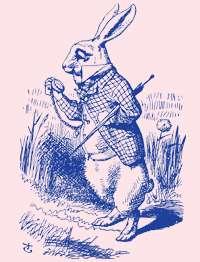 White Rabbit Vintage Alice in Wonderland 2001 T Shirt