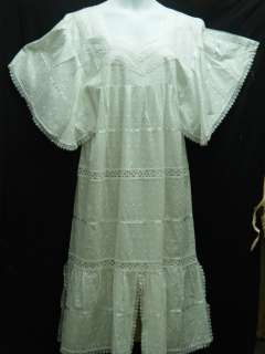Women Clothing Embroidred Long Dress Skirt Church Suit White NotCome L