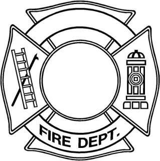 Fire Dept Vinyl Decal Car Truck Boat Window Sticker