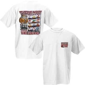 Alabama Crimson Tide White 2005 Football Schedule T shirt