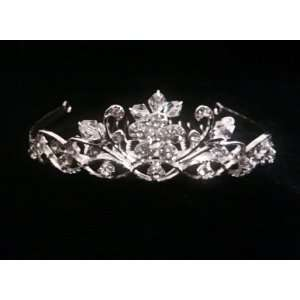 Comb Flower Blooms Rhinestone Crystal Pageant Bridal Hair Accessories