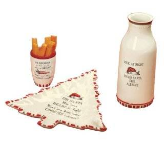 Road Make it Merry Santa Milk Jug, Cookie Plate and Deer Cup Gift Set