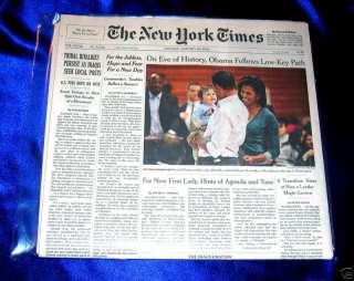 PRESIDENT BARACK OBAMA 2009 NY TIMES INAUGURAL WEEK NEWSPAPERS