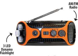 in 1 Dynamo Radio LED Light AM/FM Radio Hand Crank Recharging