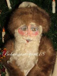 Artisan One Of A Kind COLLECTIBLES ~SANTA~ ANTIQUE STYLE SIGNED