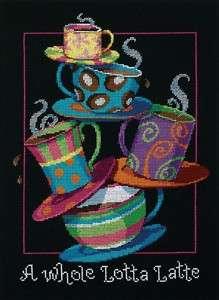 Whole Lotta Latte Counted Cross Stitch Coffee Mugs