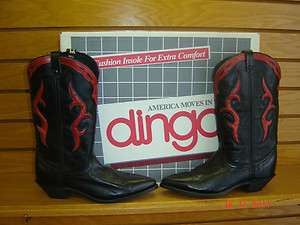 ladies new Dingo black leather western boot made in USA