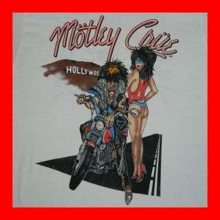 MOTLEY CRUE 1987 ALLISTER FIEND T SHIRT MOTORCYCLE TOUR CONCERT