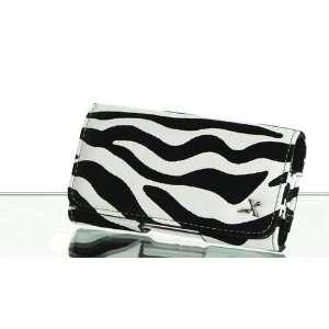 Safari Zebra Black and White Leather Pouch Case Apple iPod Touch 2