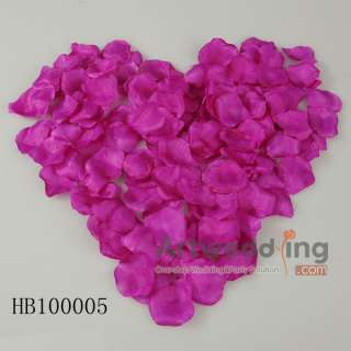 Fabrics Satin Flower Petals Decoration Wedding Favors 6 KINDS