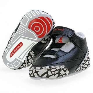 NIKE AIR JORDAN 3 RETRO (CB) CRIB Size 3 Black Baby Shoes