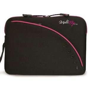 Black & Pink Neoprene Netbook 10 Laptop Sleeve Case Electronics