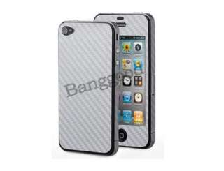 Carbon Fiber Full Body Sticker Protector Cover Skin For iPhone 4 4S 4G
