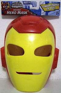 IRON MAN Marvel Super Hero Squad Hero Mask Velcro 2011