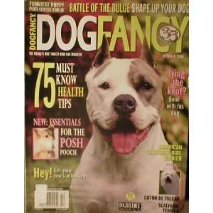 Dog Fancy Magazine October 2005 American Staffordshire Terrier Dog
